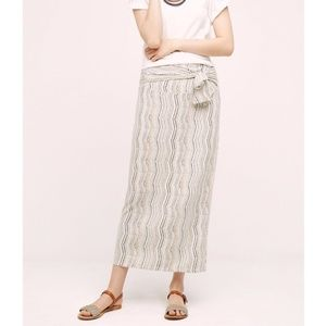 Anthropologie Maeve Bow-Front Maxi Skirt, size S